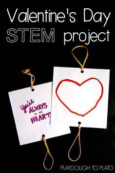 Valentine's Day STEM project! Make optical illusion thaumatropes!!