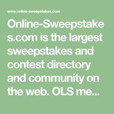 Free sweepstake websites