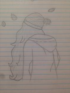 Realistic Drawings I did pretty good :) Hipster Drawings, Realistic Pencil Drawings, Sad Drawings, Girl Drawing Sketches, Dark Art Drawings, Art Drawings Sketches Simple, Pencil Art Drawings, Beautiful Drawings, Cartoon Drawings