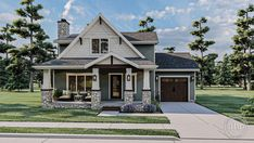 #advancedhouseplans #houseplans #floorplans #homeplans #designbuild #homebuilderplans #architecturaldesign #homedesign #curbappeal #robinson #charmingcottage #charminghomes #uniquehomedesign #smallhomedesign Cottage Style House Plans, Cottage Style Homes, River Rock Stone, Cost To Build, Exposed Beams, Local Real Estate, Wood Accents, Gated Community, Home Reno