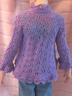Free Pattern: Top Down Cutaway Cardigan for Children by Michelle Ciccariello