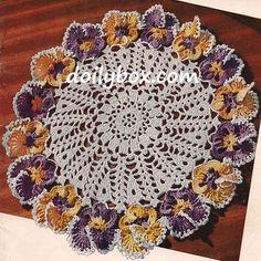 Free Vintage Crochet Pansy Doily Pattern