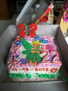 #tinkerbell #birthday #cake. #disney.
