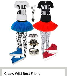 Crazy, Wild Best Friend Outfit by therealzkrysty on Polyvore.