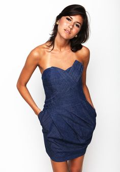 Strapless Denim Dress - Adorable!!