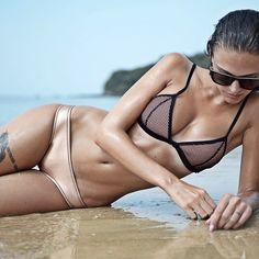 Laying low, @_tinamaria in the Billie Firefly bikini www.triangl.com