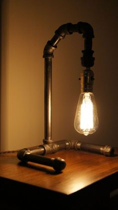 Industrial Pipe Vintage Edison Style Lighting Handmade Lamp  #Handmade #RusticPrimitive