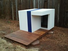 "Houses for the Modern Dog: Modern Dog House ""Cube"". $650.00, via Etsy."