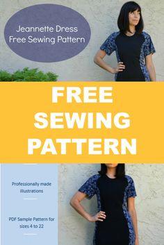 Free Sewing Pattern: The Jeannette Dress (scheduled via http://www.tailwindapp.com?utm_source=pinterest&utm_medium=twpin&utm_content=post60000336&utm_campaign=scheduler_attribution)