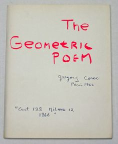 The Geometric Poem, 1966-Gregory Corso