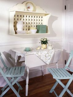 Everyday Art: Painted Kitchen Table @Emily Kennedy these look like ...