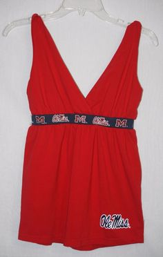 Ole Miss Rebels Empire Waist Stretch Tank Top Small Red S #Klutch #OleMissRebels