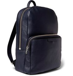 Marc by Marc Jacobs full-grain leather backpack.