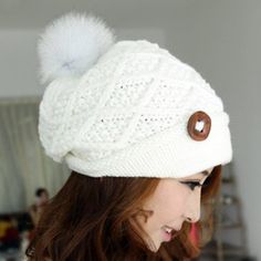 $7.27 Chic Women's Button Ball Decorated Woolen Hat