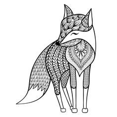 Adult Coloring Pages. Coloring pages for adults fox. Zentangle Vector Happy Fox For Adult Anti Stress Coloring Pages. Most Complete Coloring Pictures. Polar Bear Coloring Page, Fox Coloring Page, Doodle Coloring, Mandala Coloring Pages, Animal Coloring Pages, Coloring Pages For Kids, Coloring Books, Coloring Sheets, Colouring