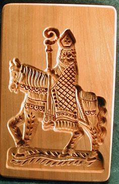 images of Scandinavia gingerbreads | St. Nicholas on a horse in cookie board form.