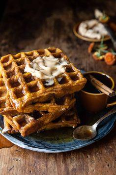 Pumpkin Pie Mix, Pumpkin Waffles, Pumpkin Butter, Beignets, Brunch Recipes, Breakfast Recipes, Breakfast Ideas, Morning Breakfast, Breakfast Dishes
