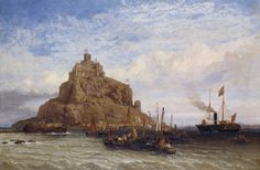HMY Victoria and Albert I, The Royal Yacht Passing St Michael's Mount