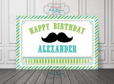 Mustache Birthday Vinyl Banner / Mustache by UnlimitedPartyThemes