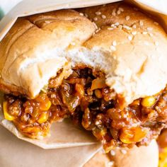 Perfect for quick dinner, these Tex-Mex Sloppy Joes are ready in 30 minutes or less! Made with beef, jalapenos, corn, and zesty spices, these sloppy joes will soon become a new family favorite! #sloppyjoes #texmex #easyrecipe #dinner #kidfriendly #sandwich #onepan #weeknight Ihop Sirloin Tips Recipe, Types Of Buns, College Meals, College Recipes, Sloppy Joes Recipe, Hamburger Buns, Tex Mex, Stuffed Green Peppers, Pulled Pork