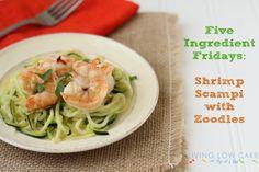 Season w/ garlic & salt; saute in olive oil. Serve over steamed zuchini noodles (use spiral slicer).