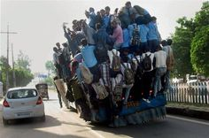 I got on this bus in India, and everybody stood up to offer me their seat.  ~ India,