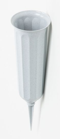 Granite Gray Cup-Shaped Cemetery Vase