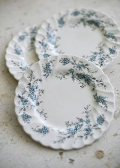 "My mom has this china! It was my step-grandmother's  // Myott England ""Forget Me Not"" plates ~ Sadie Olive//"