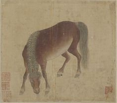A Bay horse | 1644-1911 | Han Gan (Chinese, ca. 715-after 781) | Qing dynasty | Ink and color on silk | China | Gift of Charles Lang Freer | Freer Gallery of Art | F1911.154c