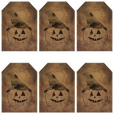 grungy tag set primitive tags craft by WhisperWillowDesignz $3.50 #Halloween #supplies #crafts #primitive #primtags #hangtags #jackolantern #seasonal #holidays #printables