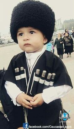 A cute little Circassian boy, Azerbaijan. The Circassians are a North Caucasian ethnic group native to Circassia, who were displaced in the course of the Russian conquest of the Caucasus in the 19th century, especially after the Russian–Circassian War in 1864.