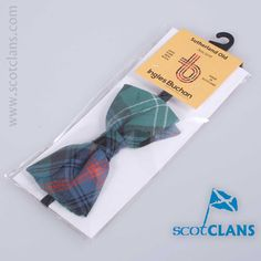 Wool bow tie in Sutherland Old Tartan - from ScotClans