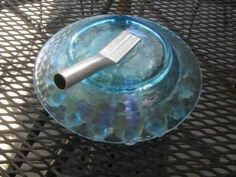 5 ways to attach the stem to glass plate flowers