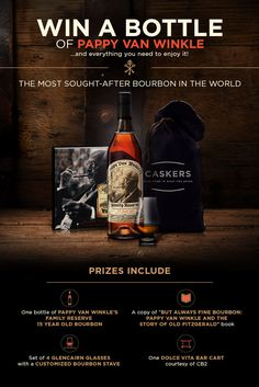 Win a bottle of #Pappy Van Winkle! The most sought-after #bourbon in the world! | @Caskers