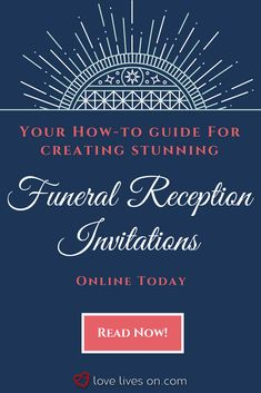 48 Best Funeral Reception Invitations Images Funeral