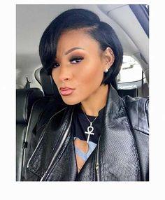 Cute Short Haircuts For Black Females - Black Haircut Styles Short Black Haircuts, Black Haircut Styles, Short Bob Hairstyles, Hairstyles Haircuts, Short Hair Cuts, Fashion Hairstyles, Hairstyles Pictures, Curly Hair Styles, Natural Hair Styles