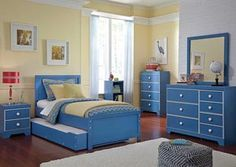 Bronilly Twin Trundle Bed, Dresser & Mirror