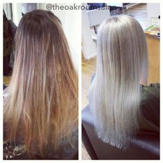 From dark blonde to a cool icy blonde. Colour & cut by Jessica Sanders @ The Oak Room