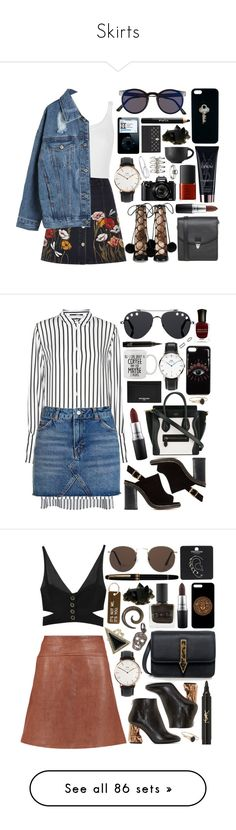 """""""Skirts"""" by clary94 ❤ liked on Polyvore featuring Spitfire, Wolford, Gucci, River Island, WithChic, Monki, MAC Cosmetics, Yves Saint Laurent, Ayaka Nishi and The Giving Keys"""