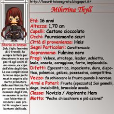 Lo Scrittoio Segreto: Schede personaggio: Mihrrina Thyll