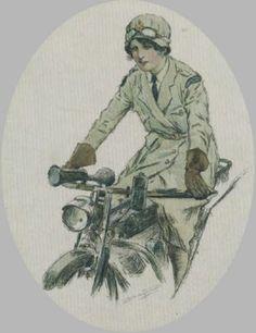 world war one woman dispatch rider uniform - Google Search