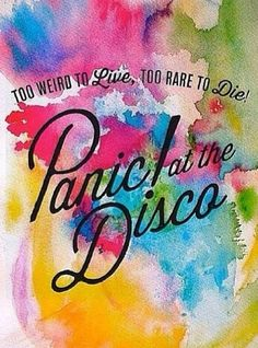 Panic! At The Disco watercolor poster.