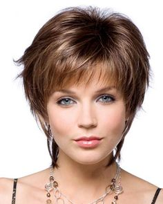 razor cut bangs | ... layered razor cut style with brown length bangs features super light