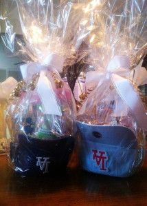 This might be my favorite Easter basket idea – you put everything IN a ball cap. I picture using one from your child's favorite team, vacation spot or a cute monogrammed one. You can pu…