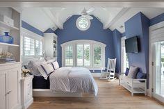 White Bedroom Design, White Bedroom Furniture, Blue Bedroom, Bedroom Decor, Bedroom Ideas, Girls Bedroom, Periwinkle Bedroom, Dark Furniture, Bedroom Images
