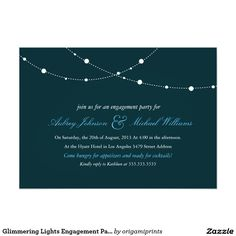 Glimmering Lights Engagement Party Invitation