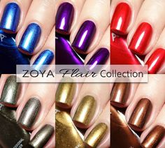 Zoya Flair Collection swatches - Fall 2015 shimmer nail polishes  |  Sassy Shelly