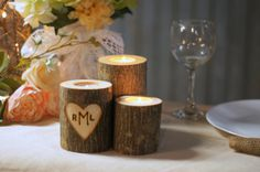 Wedding Candle, Wedding Centerpiece, Sweetheart Table, Reception Decor, Wedding Gift, Barn Wedding, Engagement Gift, His and Hers, Prop
