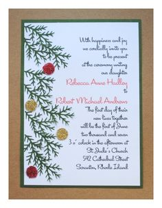 find the largest collection of discounts, incentives, freebies, and other special promos on your holiday Christmas party invitations cards presented by Holiday-Invitations Christmas Invitation Wording, Christmas Wedding Invitations, Wedding Invitation Wording, Custom Invitations, Invites, Diy Christmas Wedding, Diy Wedding, Christmas Holidays, Country Christmas