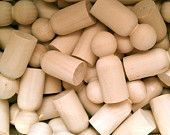 10 Wooden Little People - Wood Peg Dad 2.375 Inch - Woodworking Craft Party Supplies